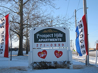 Welcome!  Drive in to Prospect Hills and say hello